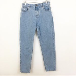 AFENDS High Waist Mom Jeans Mid/Light Wash Size 8